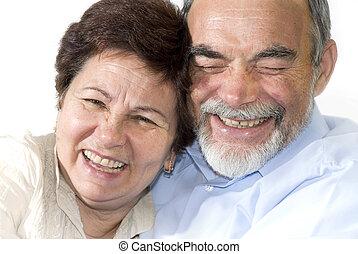 starsza para, śmiech