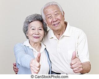 starsza para, asian