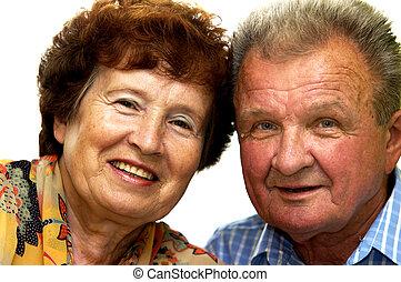 starsza para, uśmiechnąłem się, szczęśliwy