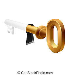 stary, dziurka od klucza, klucz