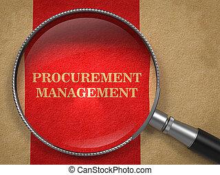stary, procurement, paper., szkło, powiększający, management.