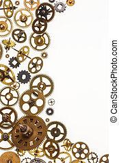 stary, przestrzeń, noski, tekst, zegar, -, mechanizm zegarowy, strony