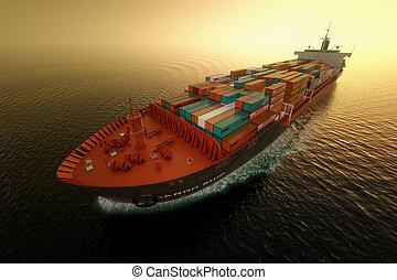 statek ładunku, transportation.