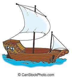 statek, galeon