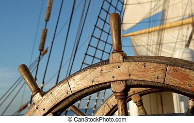 statek, kierownica