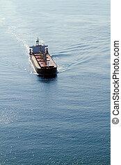 statek, prospekt, antena, ocean