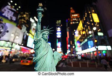 statua, swoboda, czas trwania plac