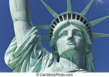 statua, swoboda, szczegół