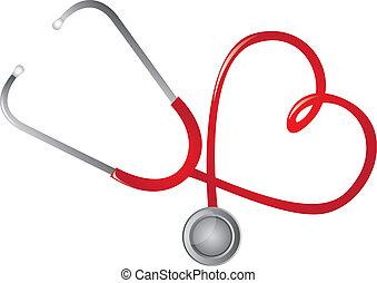 stetoskop czerwony