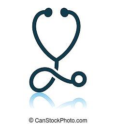 stetoskop, ikona