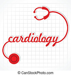 stetoskop, ustalać, słowo, kardiologia