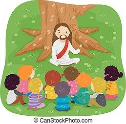 stickman, biblia, jezus, dzieciaki, storytelling