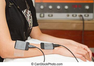 stimulator, przedramię, zachęta, elektryczny, increas