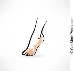 stopa, ikona