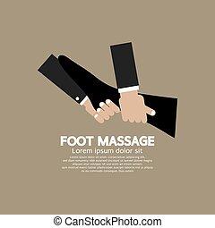 stopa masują, odprężając, vector.