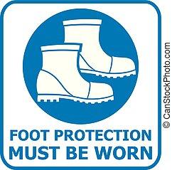 stopa ochrona, znak, icon), (safety