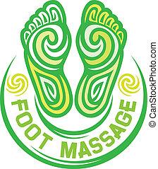stopa, symbol, masaż