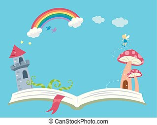 storytelling, kaprys, książka, tło, ilustracja