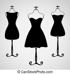 strój, sylwetka, samica, klasyk