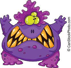 straszny, potwór