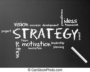strategia, chalkboard, -