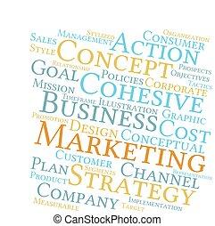 strategia, chmura, handel, słowo