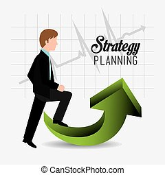 strategia, handlowy, design.