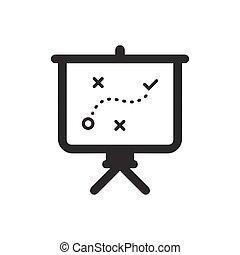strategia, plan, handlowy, ikona