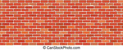 struktura, ściana, cegła, seamless