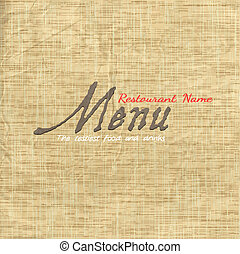 struktura, papier karta, stary, menu, projektować