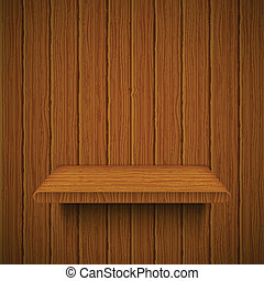 struktura, shelf., ilustracja, drewniany, wektor