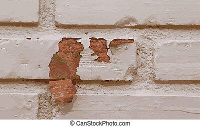 struktura, tło, ściana, cegła