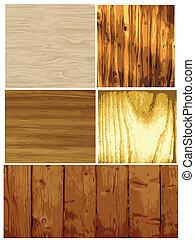 struktura, wektor, drewno