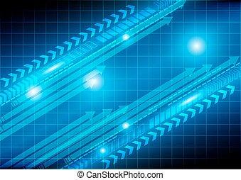 strzała, technologia, abstrakcyjny