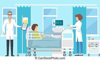 strzykawka, pielęgnować, wektor, ilustracja, doktor