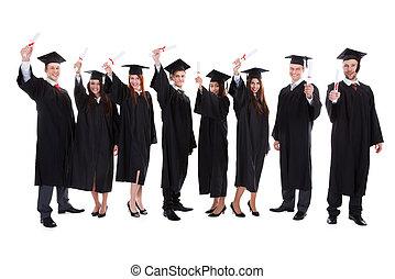 studenci, absolwent, wychowywanie, siła robocza