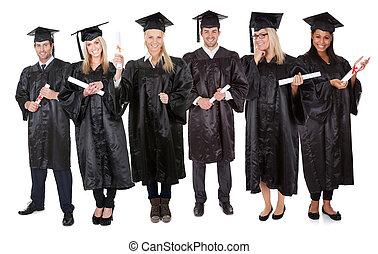 studenci, grupa, absolwent