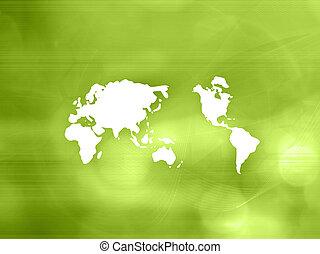 styl, światowa mapa, technologia