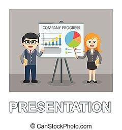 styl, kobieta interesu, tekst, fotografia, biznesmen, prezentacja