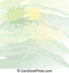 styl, nachylenie, abstrakcyjny, akwarela, zielone tło