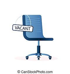 styl, pojęcie, krzesło, sign-vacant, handlowy, werbunek