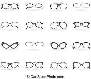 style, różny, okulary