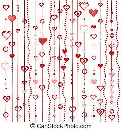 stylizowany, serca, miłość, tło