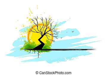 suchy, drzewo