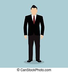 suit., człowiek, handlowy