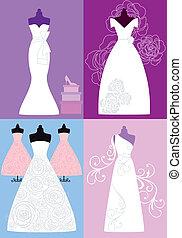 suknie, wesele, poślubne stroje