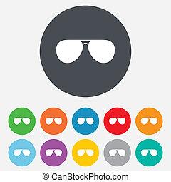 sunglasses, glasses., znak, icon., lotnik, pilot