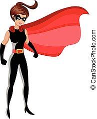superhero, kobieta stanie