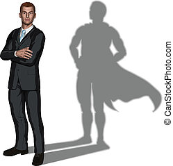 superhero, pojęcie, biznesmen