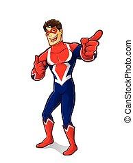 superhero, przyjacielski, śmiech